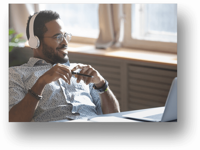 African-Man-with-Headphones-Talking-700px